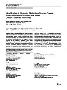 Identification of Molecular Distinctions Between Normal ... - CiteSeerX