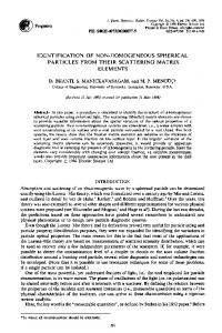 identification of non-homogeneous spherical particles from their