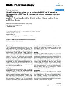 Identification of novel target proteins of cGMP/cAMP signaling pathway ...