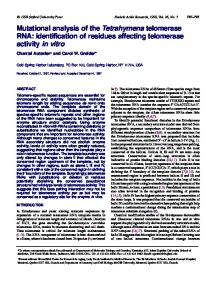 identification of residues affecting telomerase activity ... - BioMedSearch