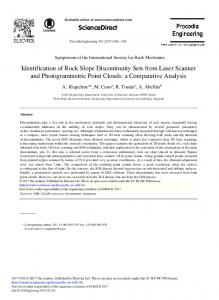 Identification of Rock Slope Discontinuity Sets from Laser ... - RUA