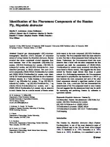 Identification of Sex Pheromone Components of the ... - Springer Link