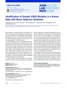 Identification of Somatic KRAS Mutation in a ... - Semantic Scholar