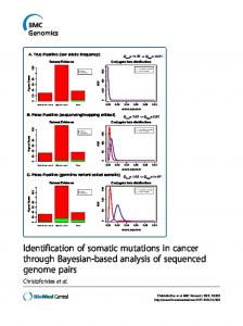 Identification of somatic mutations in cancer through