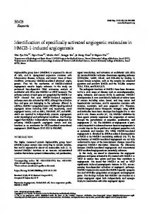 Identification of specifically activated angiogenic ... - Semantic Scholar