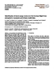 Identification of storm surge events over the German Bight from ...