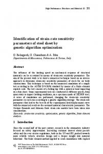 Identification of strain-rate sensitivity parameters of steel ... - WIT Press
