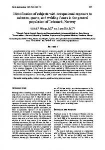 Identification of subjects with occupational exposure to asbestos ...