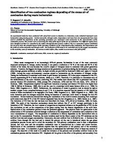Identification of two combustion regimes depending of the excess air ...