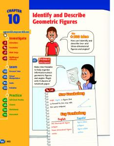 Identify and Describe Geometric Figures