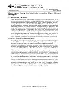 Identifying and Sharing Best Practices in International ... - Asee peer