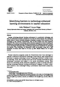 Identifying barriers to technology-enhanced ... - Semantic Scholar