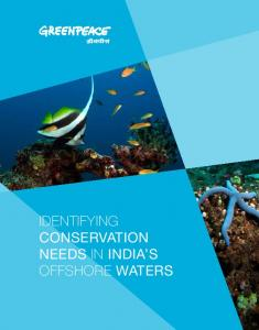 IDENTIFYING Conservation needs IN india's OFFSHORE Waters