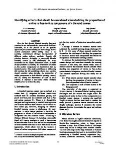 Identifying Criteria that Should be Considered ... - Semantic Scholar