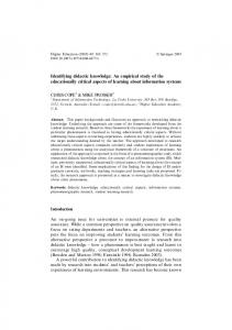 Identifying didactic knowledge: An empirical study of ... - Springer Link