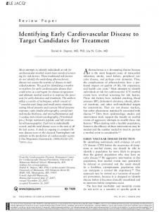 identifying Early cardiovascular Disease to ... - Wiley Online Library