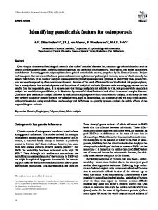 Identifying genetic risk factors for osteoporosis