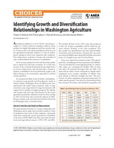 Identifying Growth and Diversification Relationships ... - AgEcon Search