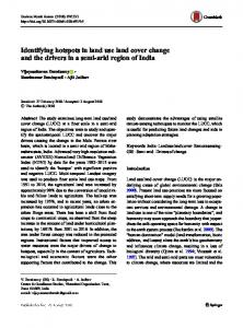 Identifying hotspots in land use land cover change