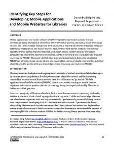 Identifying Key Steps for Developing Mobile Applications and Mobile ...