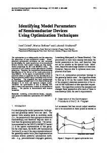 Identifying Model Parameters of Semiconductor Devices Using