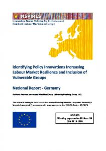 Identifying Policy Innovations Increasing Labour Market Resilience ...