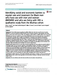 Identifying social and economic barriers to regular