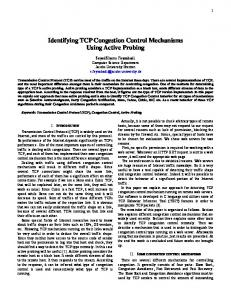 Identifying TCP Congestion Control Mechanisms ... - Jacobs University