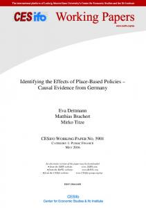 Identifying the Effects of Place-Based Policies-Causal Evidence from ...