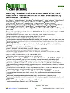 Identifying the Research and Infrastructure Needs ... - ACS Publications