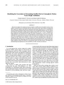 Identifying the Uncertainty in Determining Satellite ... - AMS Journals