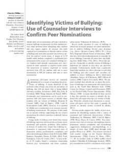 Identifying Victims of Bullying