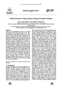 Identity Detection of Typist relying on Image Processing ... - Magdy Saeb