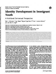 Identity Development in Immigrant Youth