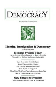 Identity, Immigration & Democracy - Journal of Democracy