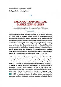 ideology and critical marketing studies