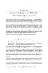 Ideology and Intuition in Moral Education - CiteSeerX