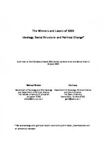 Ideology, Social Structure and Political Change