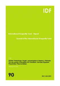 IDF-Report 90 (2015) - International Dragonfly Fund