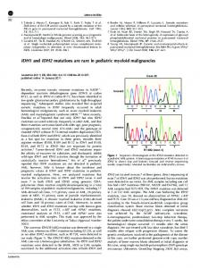 IDH1 and IDH2 mutations are rare in pediatric myeloid ... - Nature