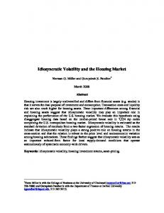 Idiosyncratic Volatility and the Housing Market