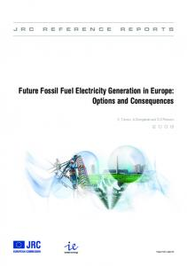 IE Future Fossil Fuel Electricity Generation - JRC Publications ...