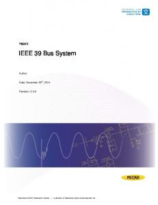 IEEE 39 Bus System