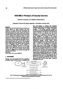 IEEE 802.11 Wireless LAN Security Overview - International Journal of ...
