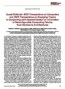 IEEE Transactions on Computers and IEEE Transactions on Emerging ...