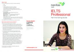 IELTS Professional Evening Course Perth - Navitas English