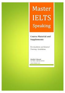 IELTS Speaking Course Pack - Tahasoni