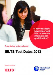 IELTS Test Dates 2013 - web