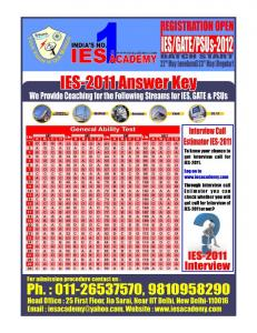 IES Solution GAT RED - IES Academy