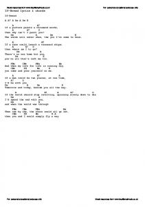 If-Bread lyrics & chords - Traditional Music Library